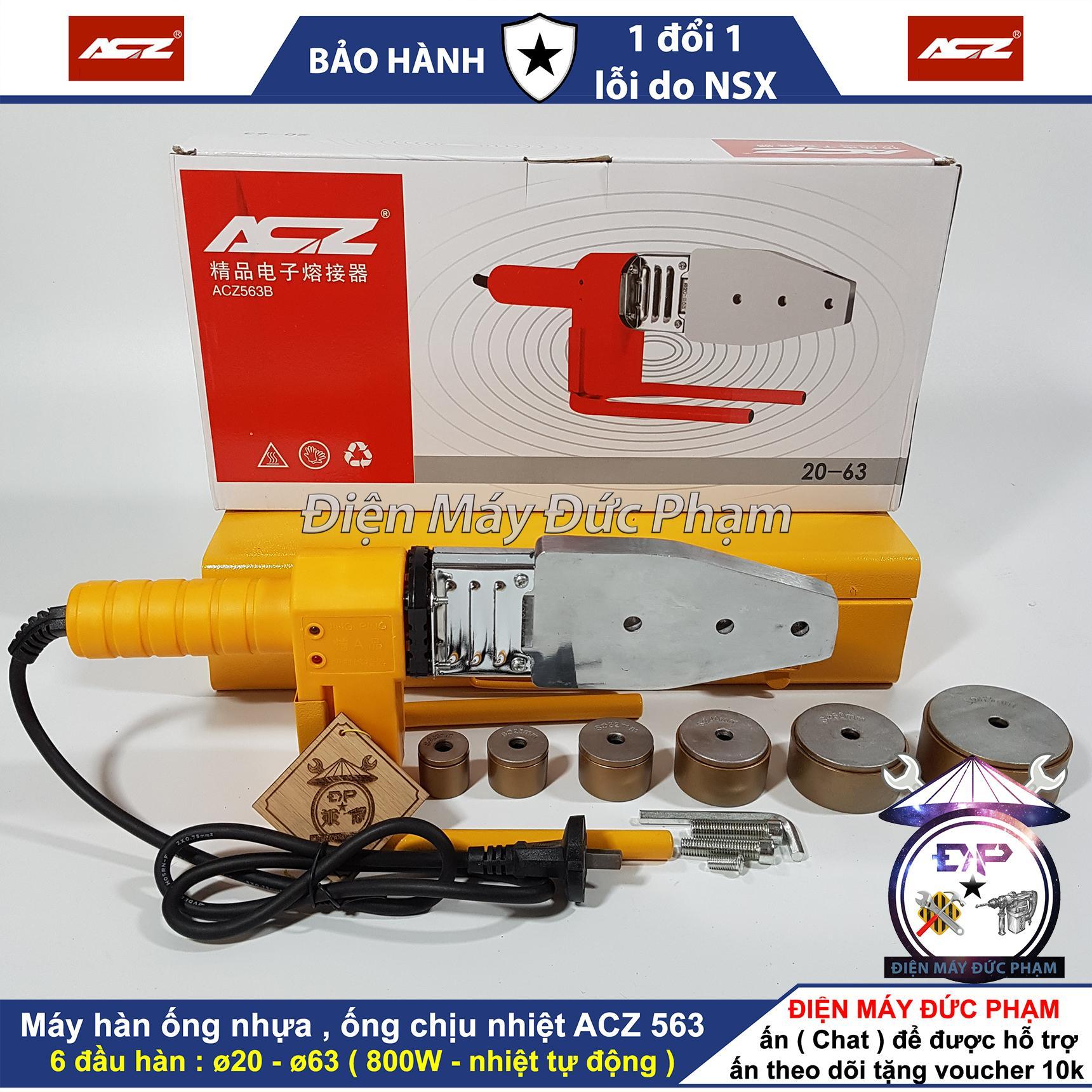 Máy hàn ống chịu nhiệt tự động PPR ACZ-563 800W ( 20mm - 63 mm ) , máy hàn ống nhựa