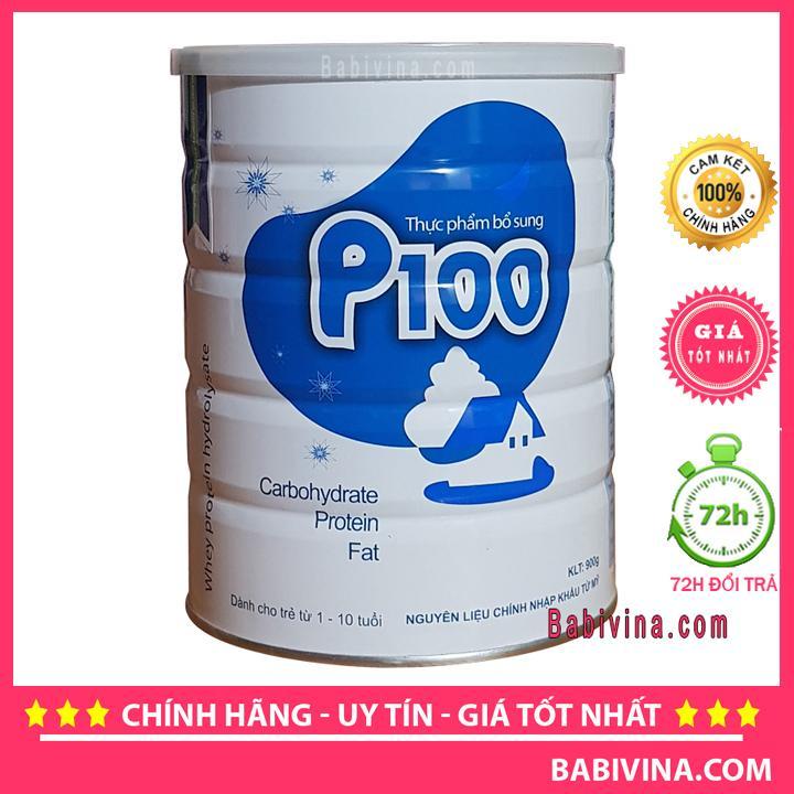 Sữa Bột P100 900g Dinh Dưỡng Cao Năng Lượng Cho Trẻ 1-10 Tuổi