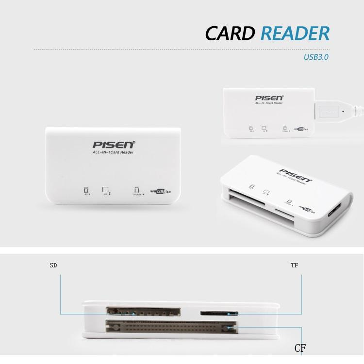 Đầu đọc thẻ nhớ Pisen All in 1 USB 3.0 ( 3 Slot )