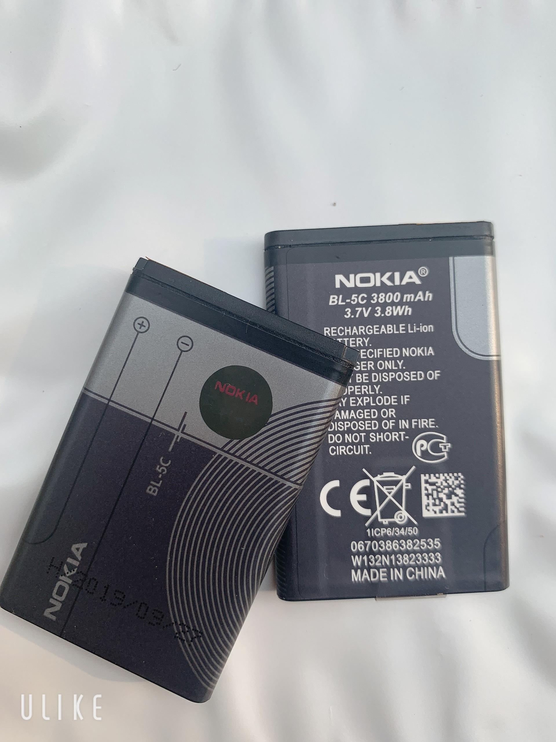 Pin Nokia BL-5C Loại 2iC Chống Phù Chống Nổ,Cho Nokia 1280,1110i,2610,1600 Giá Cực Ngầu