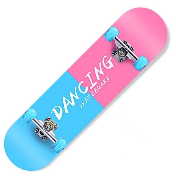 Giá bán [Tặng Đồ Bảo Hộ] Ván trượt thể thao Ván trượt skateboard cao cấp gỗ phong ép 7 lớp mặt nhám có đèn led phát sáng