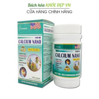 Viên uống bổ sung canxi 900mg Liquid Calcium Nano chắc khỏe xương, phát triển hệ xương, giảm loãng xương - Hộp 100 viên dùng cho người trên 6 tuổi thumbnail
