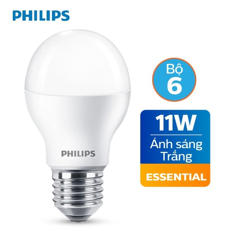 Bộ 6 Bóng đèn Philips LED Essential 11W E27 A60 - Ánh sáng trắng / Ánh sáng Vàng