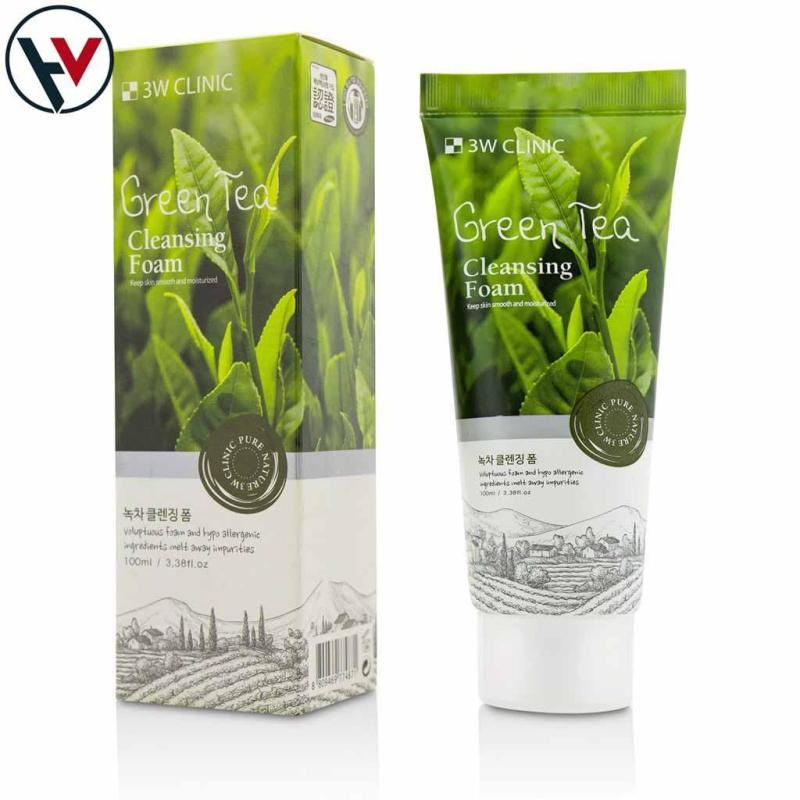 SỮA RỬA MẶT TRÀ XANH 3W CLINIC GREEN TEA CLEANSING FOAM 100ML nhập khẩu