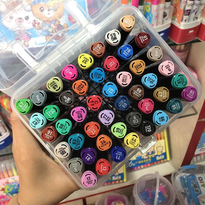 Mua Màu dạ Marker Touch 6 - set 12/ 24/ 36/ 48/ 60 màu, màu sắc tươi tắn, hộp nhựa cao cấp.