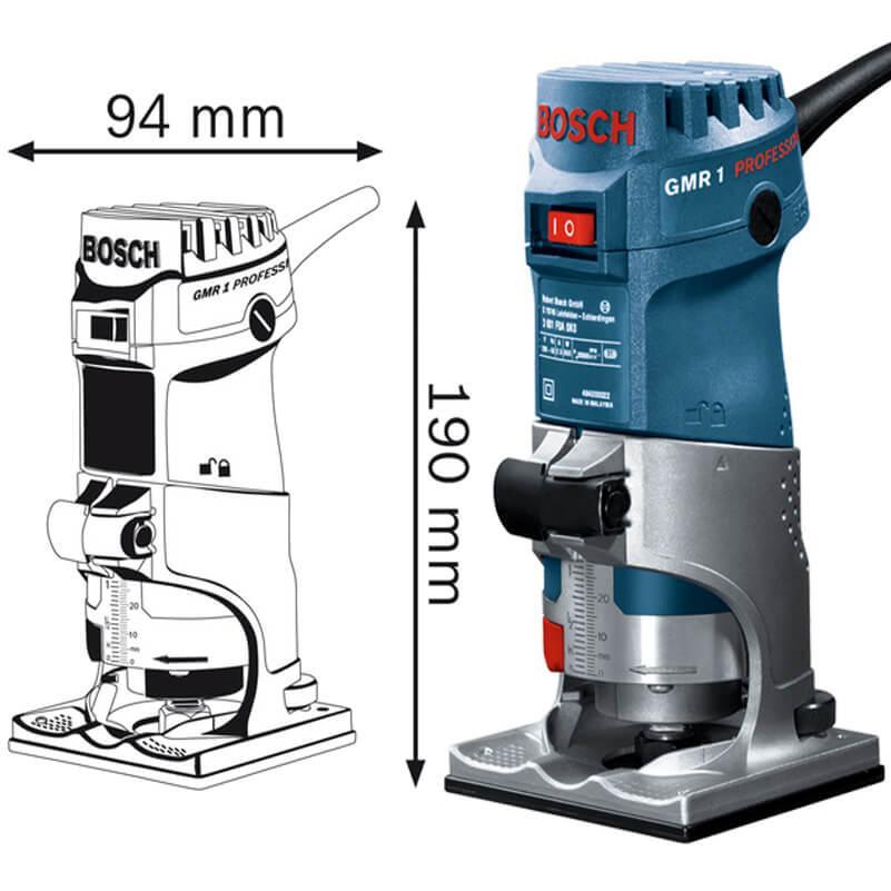 Máy phay gỗ Bosch GMR 1