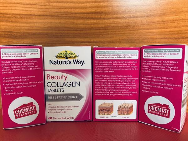 Viên uống Collagen Beauty Nature's Way 60 VIEN – Xuất Xứ Úc