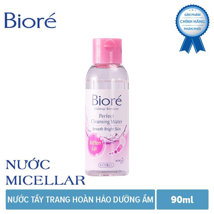 Bioré Nước Tẩy Trang Hoàn Hảo Dưỡng Ẩm Makeup Remover Perfect Cleansing Water 90ml nhập khẩu