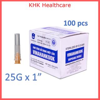 Kim tiêm 25G x 1 Vinahankook (đầu kim 25G) hộp 100 kim vô trùng thumbnail