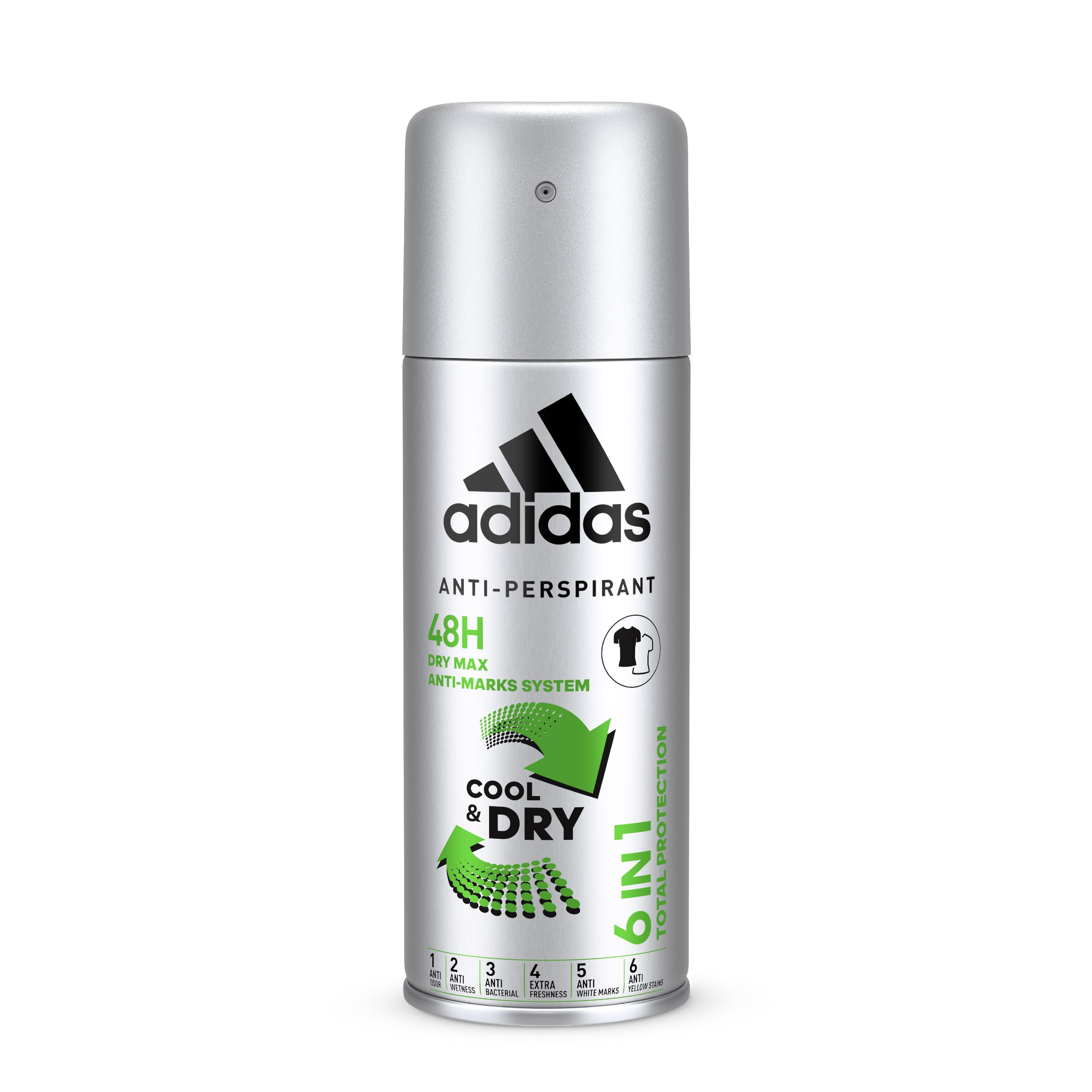Xịt Khử Mùi Toàn Thân Nam Ngăn Mồ Hôi Adidas 6 in 1 Cool & Dry 150ml cao cấp