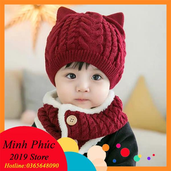 [CAM KẾT Y HÌNH] Bộ khăn ống mũ len siêu đẹp cho bé từ 0-5 tuổi bảo vệ bé yêu của bạn trong thời tiết mùa đông lạnh giá