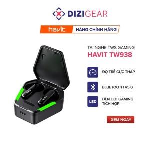 Tai Nghe Gaming True Wireless HAVIT TW938 Bass Chất, Game Mượt - Chính Hãng BH 12 Tháng thumbnail