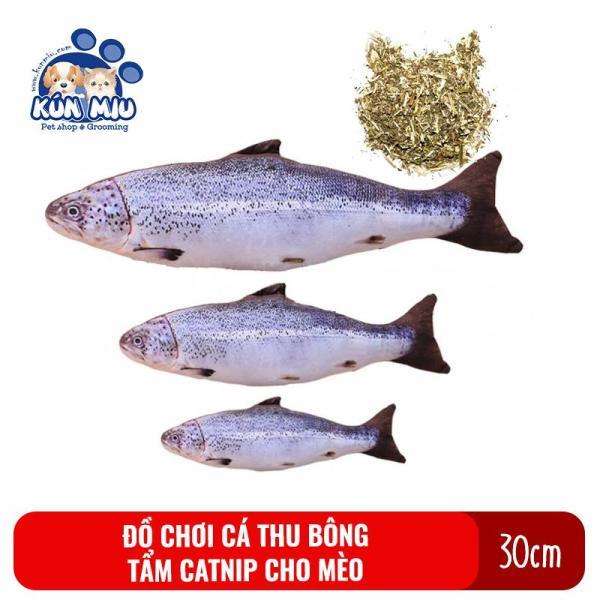 Đồ chơi cho mèo Cá biển bông catnip cho mèo Kún Miu cỡ trung 30cm