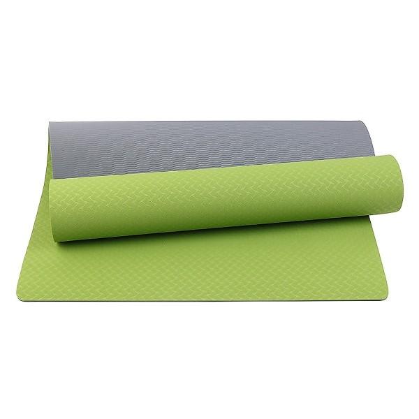 Thảm tập Yoga, Thảm tập Gym, thảm tập thể dục TPE 2 lớp siêu bền chống trơn trượt làm bằng cao su non êm ái loại 1 nhiều màu