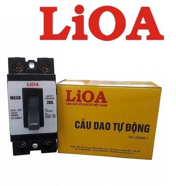 Bảng giá Cầu dao tự động APTOMAT 15A 20A 25A 30A 2 cực 1 tiếp điểm LIOA MCCB2P1E