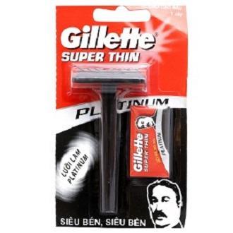 Dao cạo râu Gillette Super Thin (1 cây +1 lưỡi) tốt nhất