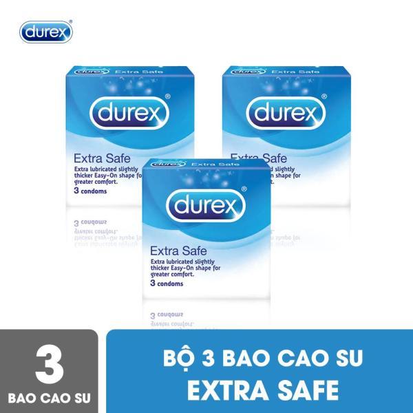 Bộ Bao Cao Su Durex Extra Safe 3 Hộp 3 Bao