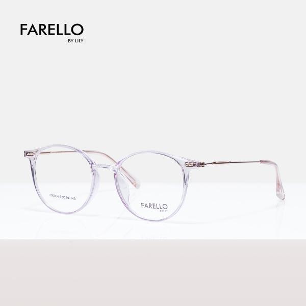 Mua Gọng kính cận nam nữ mắt tròn FARELLO , mắt kính nhựa phối hợp càng sắt , màu sắc đa dạng , phù hợp với nhiều khuôn mặt YONA 00004