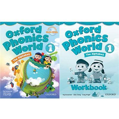 Mua Bộ sách Oxford Phonics World 1 The Alphabet (Trọn bộ 2 cuốn + CD)