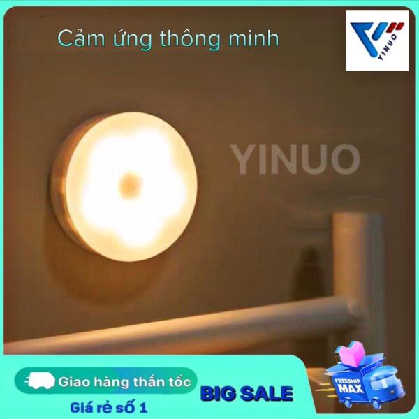 Bóng đèn led dán tường cảm ứng đèn led tủ quần áo đèn phòng tắm cảm biến thông minh đèn led trang trí gắn tường đèn ngủ thông minh cảm ứng chạm dùng pin AAA den led mini decor phòng ngủ led dán tường ánh sáng vàng