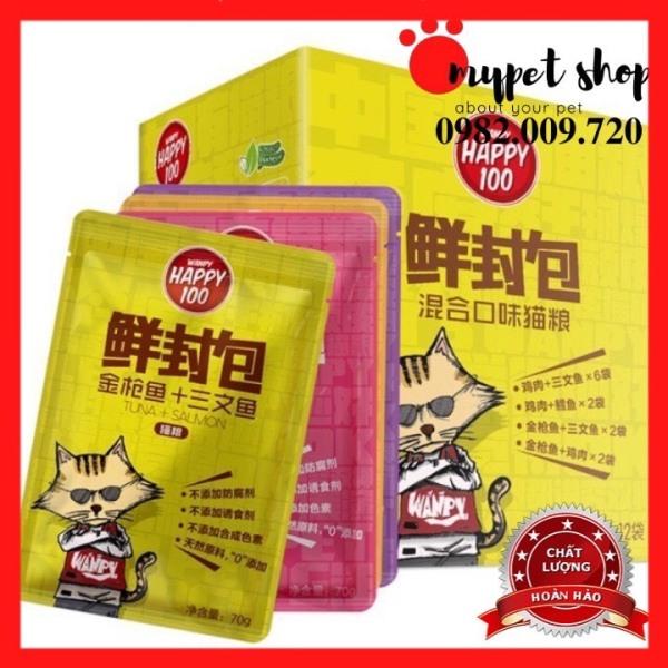 Pate Wanpy Happy 100 Cho Mèo 70gr/gói (6 vị)