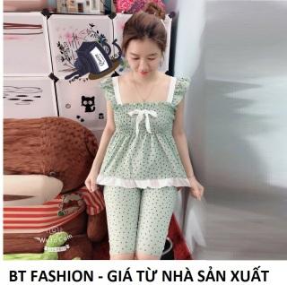 Đồ Bộ Mặc Nhà Vải Katê Lụa Mền Mại, Mát, Thời Trang - BT Fashion (Kate Lững - Chấm Bi 02) thumbnail
