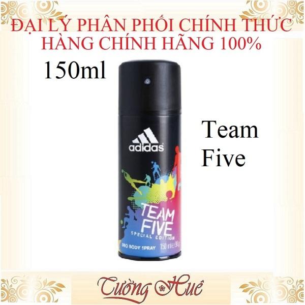 Xịt Khử Mùi Cho Nam Adidas Team Five Deo Body Spray - 150ml giá rẻ