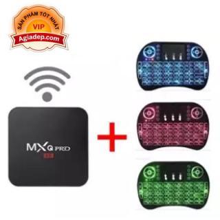 TVbox tivi box MXQ chip S905W xịn + Bàn phím Kiêm chuột mini (có ánh sáng) - (0003+0005) thumbnail