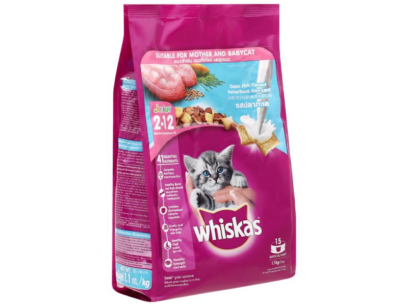 Thức Ăn Cho Mèo Con Whiskas Vị Cá Biển Và Sữa(450g)