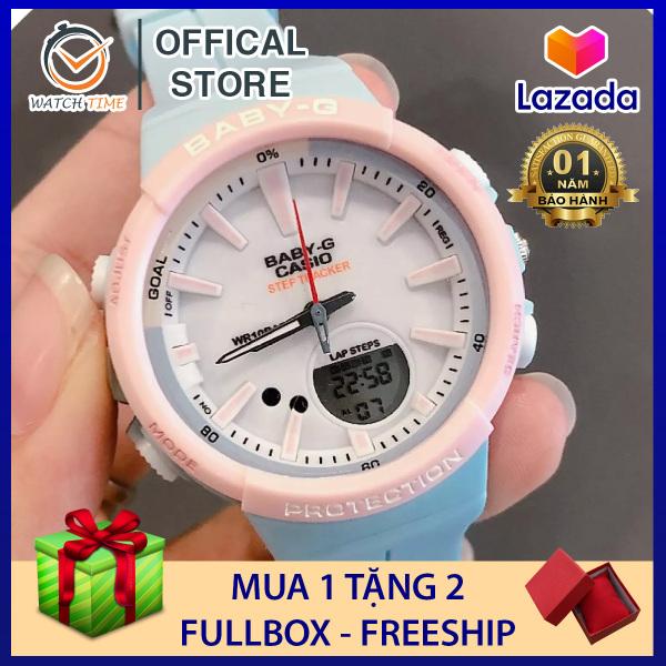 [Freeship] Đồng Hồ BABY-G BGS-100 Xanh Hồng cực đáng yêu - Bảo Hành 12 tháng bán chạy