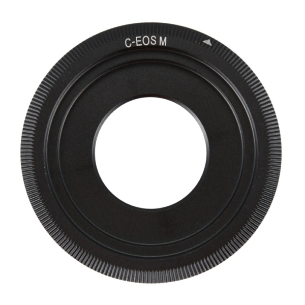 Giá Black C-Mount Cine Movie lens For Canon EOS M M2 M3 Camera Lens Adapter Ring CCTV lens C-EOS M