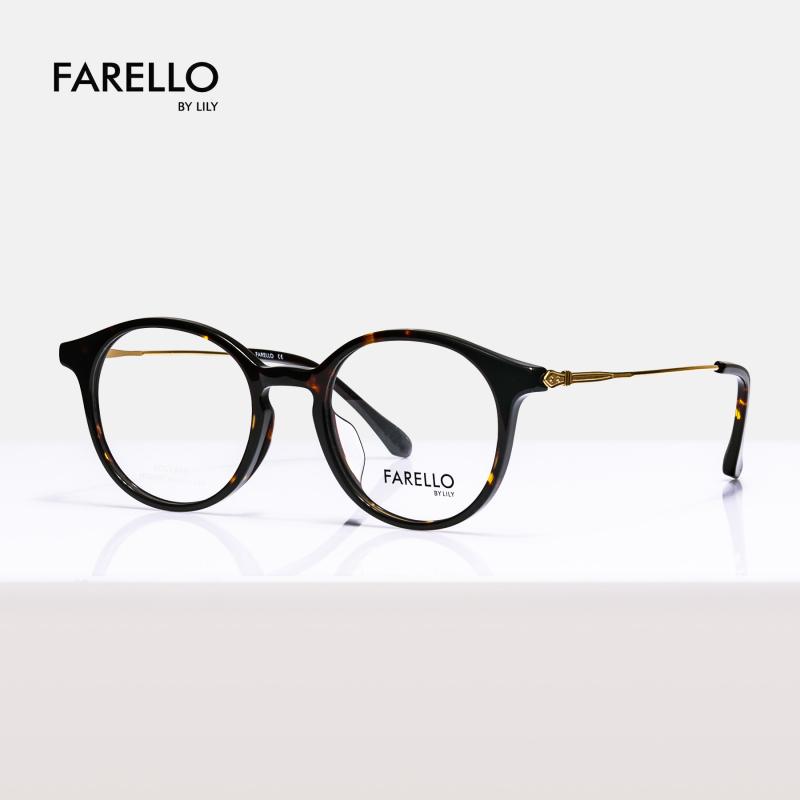 Giá bán Gọng kính cận nam nữ mắt tròn FARELLO , phù hợp nhiều khuôn mặt , đa dạng màu sắc ALAN-5015