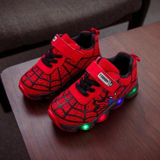Giày thể thao họa tiết Người Nhện đế cao su chống trượt, phù hợp cho bé từ 1-10 tuổi