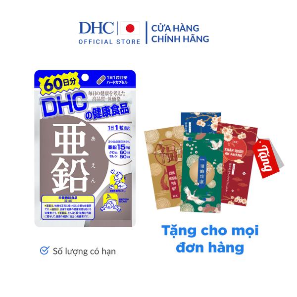 Viên uống Bổ sung Kẽm DHC Zinc Gói 60 Ngày