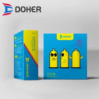 [HCM]Bao cao su DOHER Ultra Thin Siêu Mỏng Hộp 3 cái thumbnail