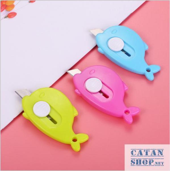 Mua Combo 5 Dao Rọc Giấy mini Hình CÁ siêu cute, Cắt giấy văn phòng phẩm, nhỏ gọn an toàn