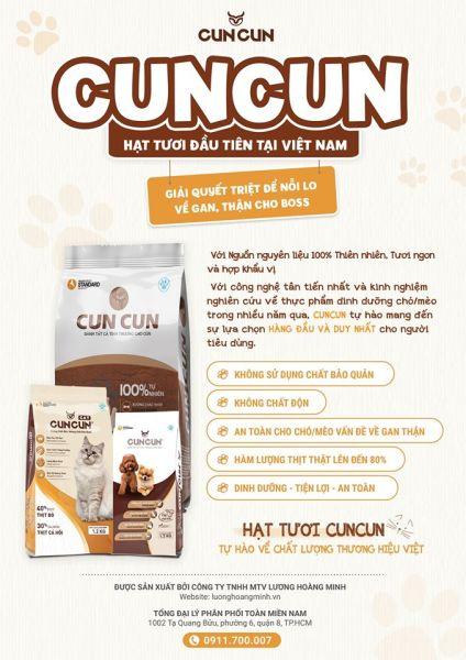 Thức ăn Cun Cun - dành cho mọi loại chó mọi độ tuổi - 1.5kg