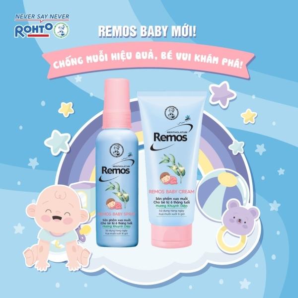 Dung dịch chống muỗi cho bé từ 6 tháng tuổi Rohto Mentholatum Remos hương Khuynh Diệp 60ml giá rẻ