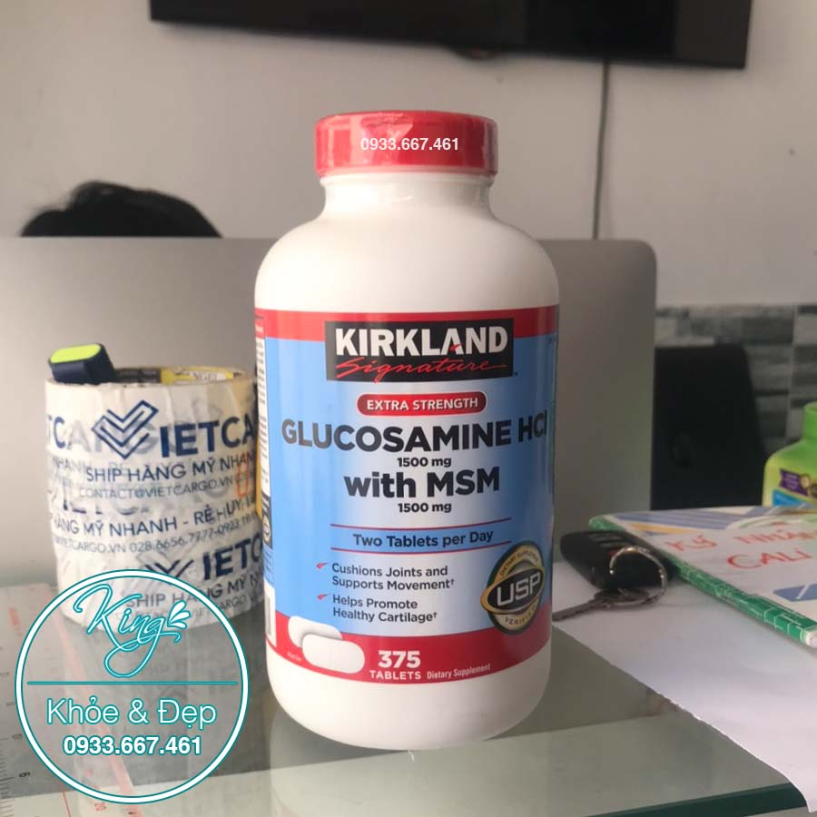 KIRKLAND GLUCOSAMINE HCL WITH MSM nhập khẩu