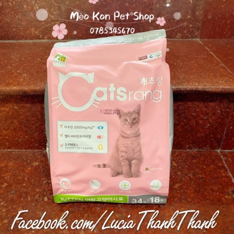 Thức ăn hạt khô cho mèo con Catsrang Kitten bịch 1.5 KG