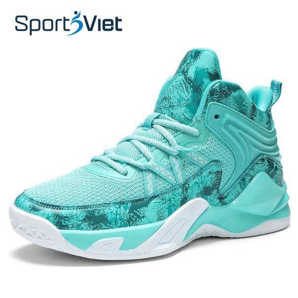 Giày bóng rổ nam - Giày bóng chuyền nam Sportsviet, giày thể thao nam cao cấp, đế cao su tổng hợp, form ôm chân giá rẻ
