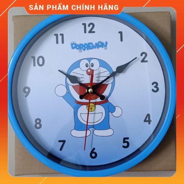 Đồng Hồ Treo Tường 22cm Kim Giật Hình Doremon Siêu Đáng Yêu
