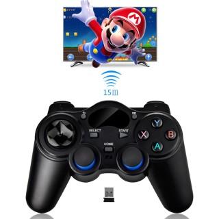 Tay cầm chơi game PC Laptop Điện Thoại TV Android TV Box - Tay cầm chơi game không dây USB Bluetooth 2.4G 6