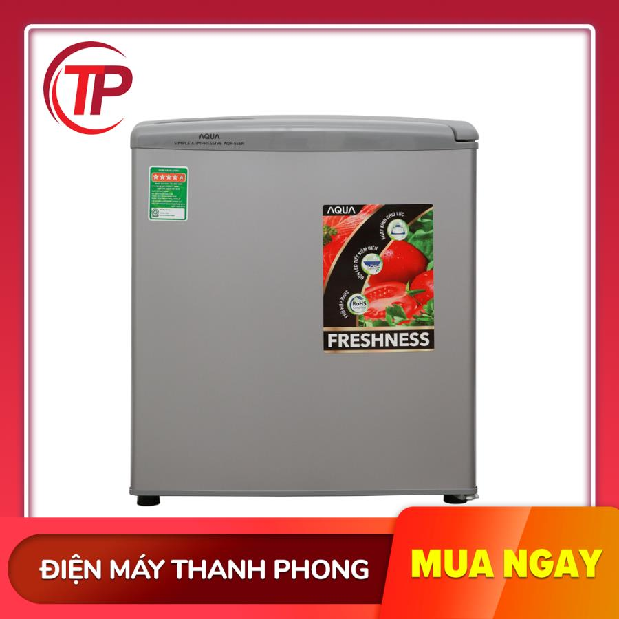 Tủ Lạnh Aqua 50 Lít AQR-55ER (SS). Duy Nhất Khuyến Mại Hôm Nay