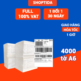 Giấy in nhiệt Shoptida 4000 tờ A6 10 15cm 3 lớp tự dán chống nước, sử dụng cho máy in nhiệt Shoptida SP46 thumbnail