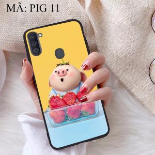 [HCM]Ốp lưng iCase dành cho Samsung Galaxy A11 viền dẻo TPU BST Pig Cute thumbnail
