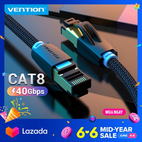 Dây cáp mạng Lan Vention Cat8 RJ45 SFTP dài 1M/2M/3M/5M/10M dành cho PC Laptop Macbook