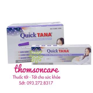 Que thử thai nhanh QUICKTAna - luôn che tên - chính hãng, sản phẩm có nguồn gốc xuất xứ rõ ràng, sử dụng dễ dàng, cam kết hàng nhận được giống với mô tả thumbnail