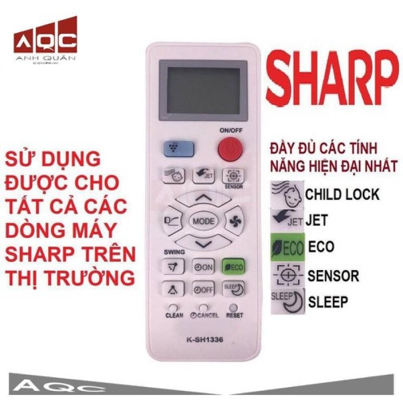 Remote điều khiển điều hoà đa năng Sharp loại đẹp đủ chức năng