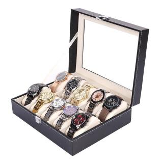 Hộp đựng đồng hồ - Hộp đựng đồng hồ 10 ngăn tiện lợi - Hộp trưng bày đồng hồ - Hộp đựng đồ trang sức thumbnail